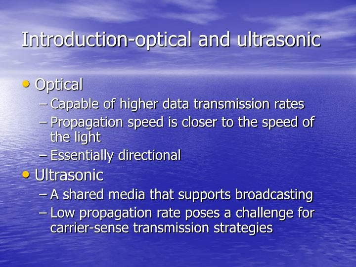Introduction-optical and ultrasonic