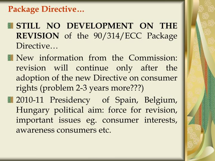 Package Directive…
