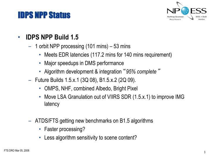 IDPS NPP Status