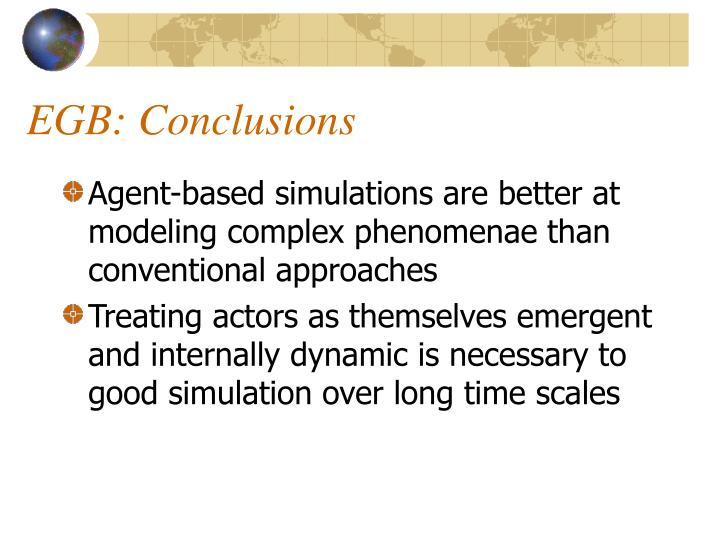 EGB: Conclusions