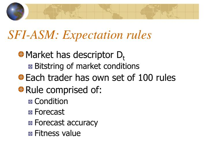 SFI-ASM: Expectation rules