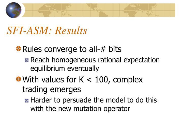 SFI-ASM: Results