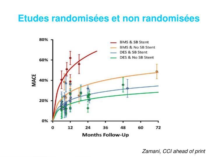 Etudes randomisées et non randomisées