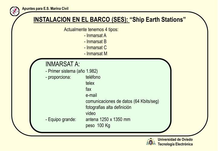 INSTALACION EN EL BARCO (SES):