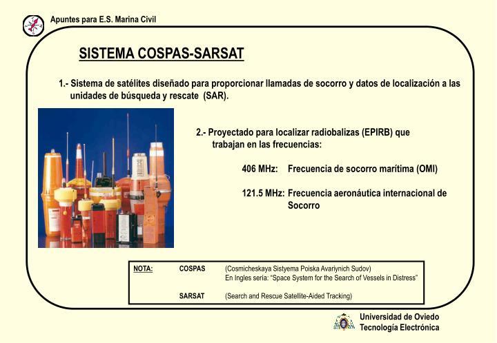 SISTEMA COSPAS-SARSAT