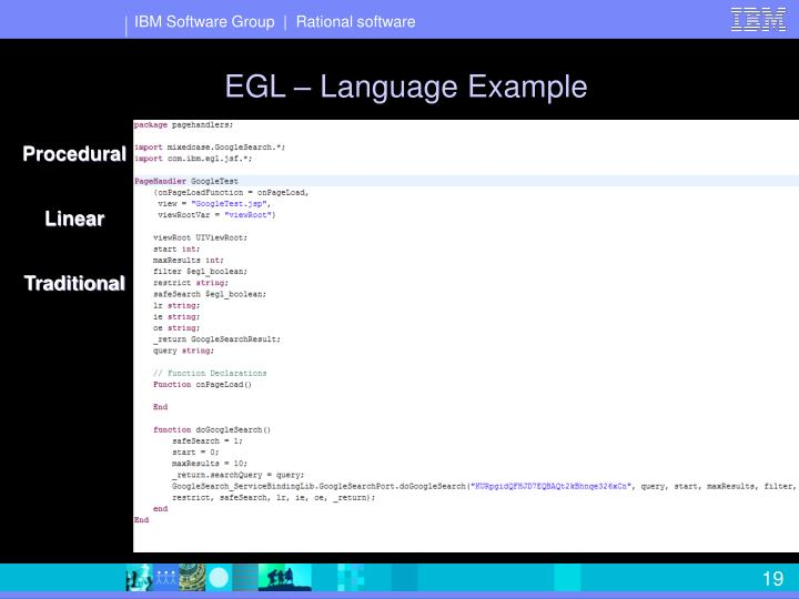EGL – Language Example