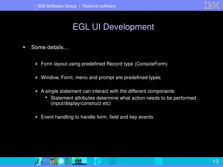 EGL UI Development