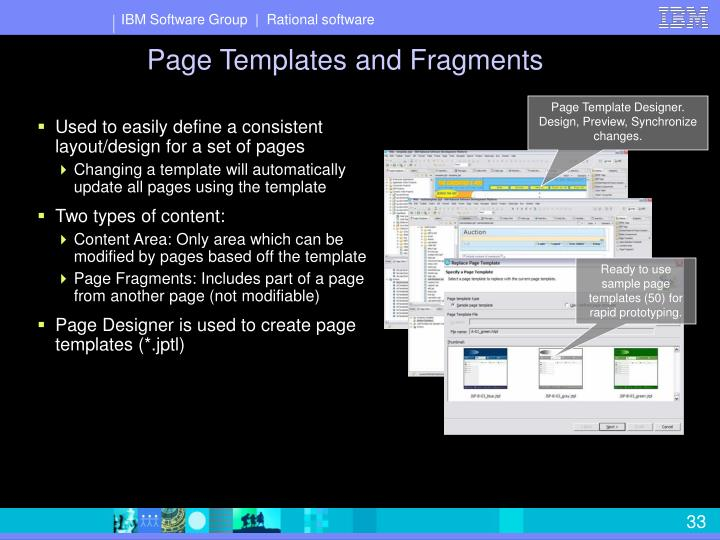 Page Templates and Fragments