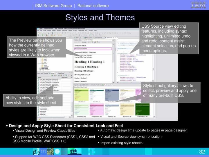 Styles and Themes