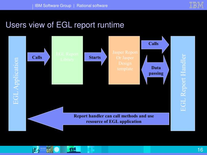 Users view of EGL report runtime