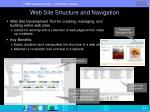 web site structure and navigation
