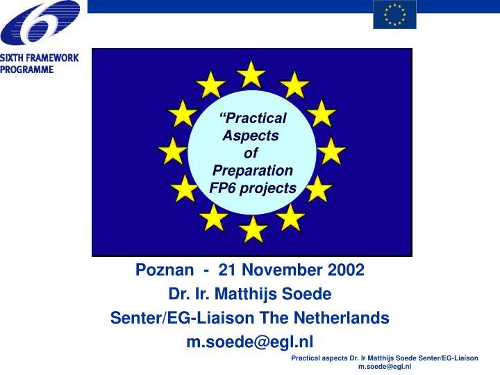 poznan 21 november 2002 dr ir matthijs soede senter eg liaison the netherlands m soede@egl nl