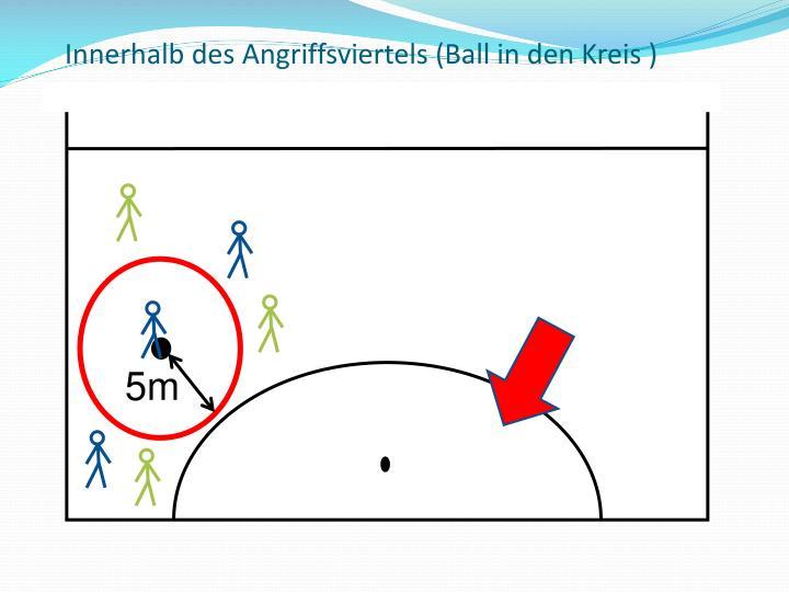Innerhalb des Angriffsviertels (Ball in den Kreis )