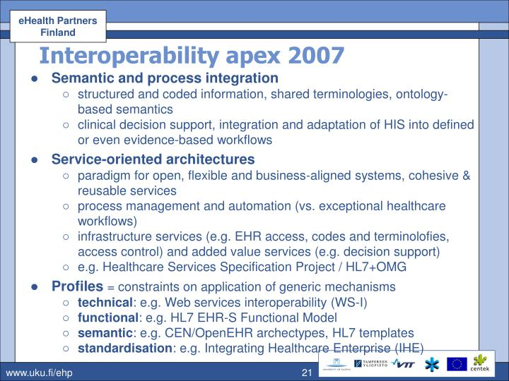 Interoperability apex 2007