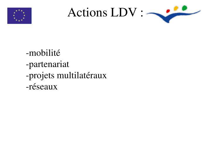 Actions LDV: