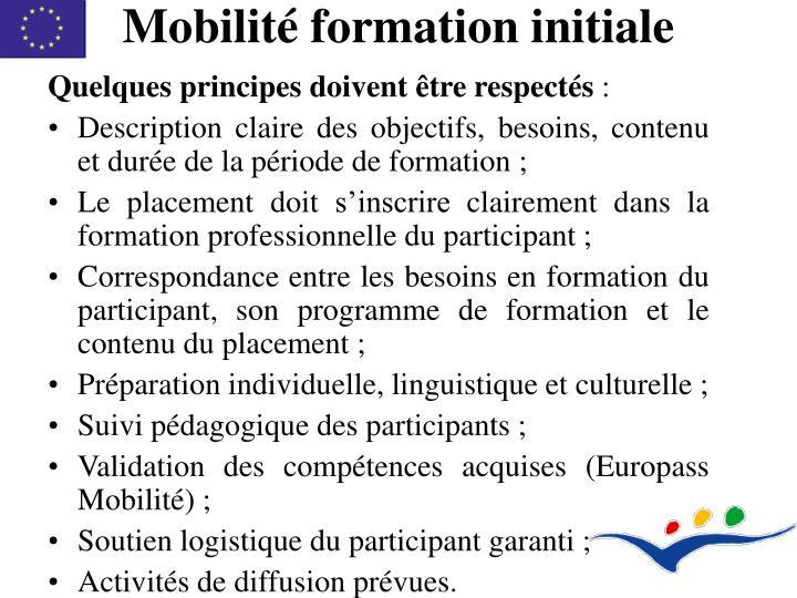 Mobilité formation initiale