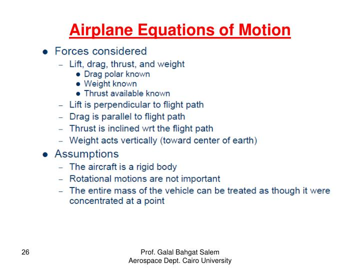 Airplane Equations of Motion