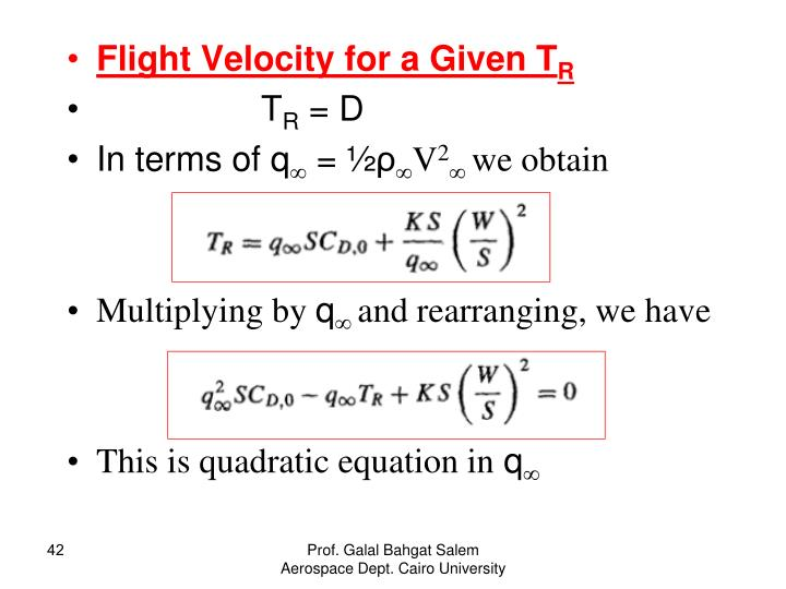 Flight Velocity for a Given T