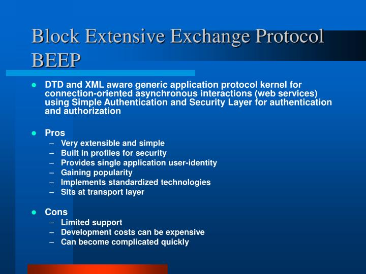 Block Extensive Exchange Protocol
