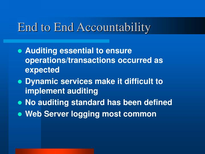 End to End Accountability