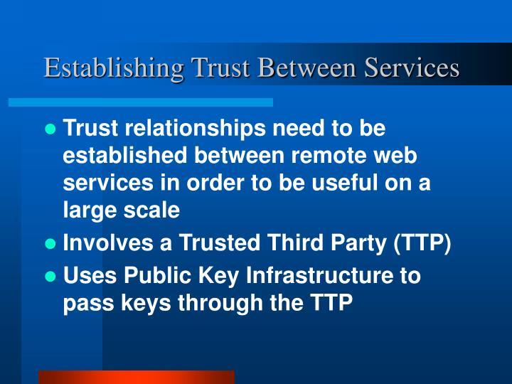 Establishing Trust Between Services