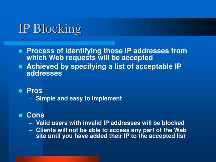 IP Blocking