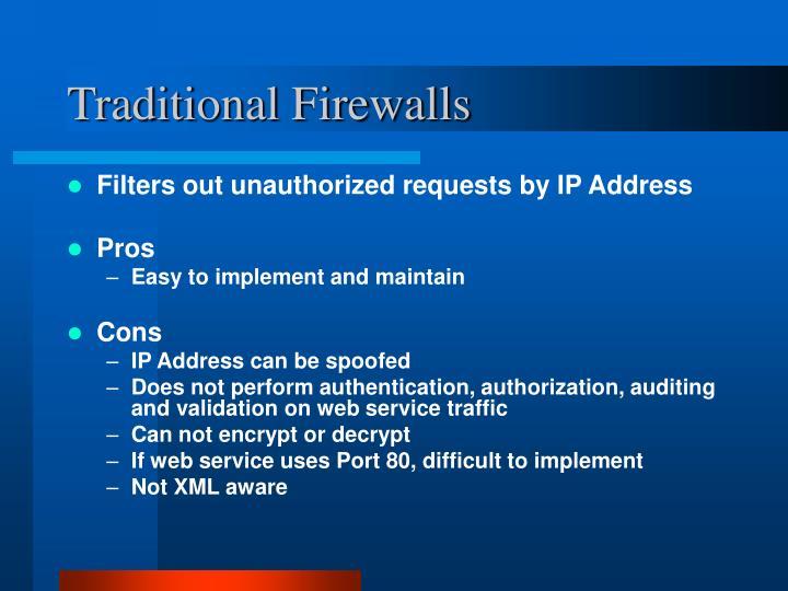 Traditional Firewalls