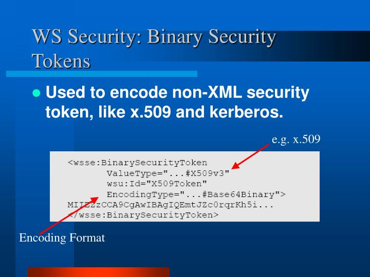 WS Security: Binary Security Tokens