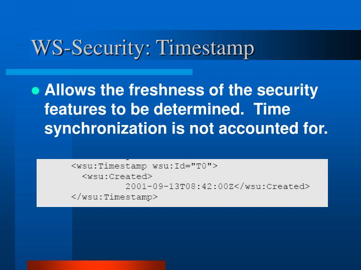 WS-Security: Timestamp