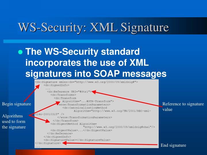 WS-Security: XML Signature