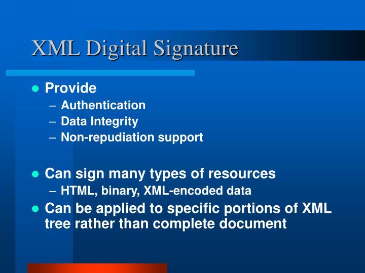 XML Digital Signature
