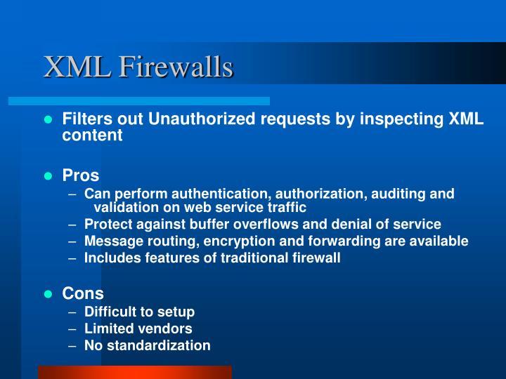XML Firewalls