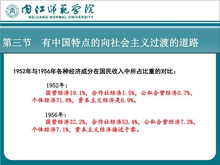 第三节  有中国特点的向社会主义过渡的道路