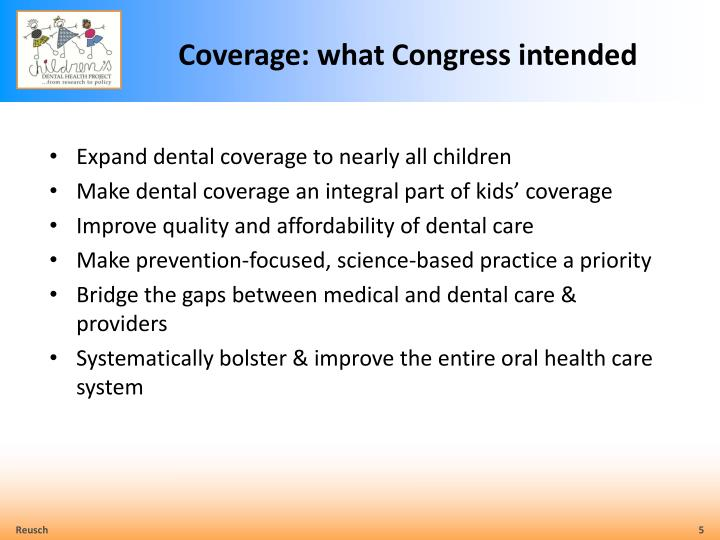 Coverage: what Congress intended