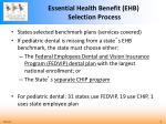 essential health benefit ehb selection process