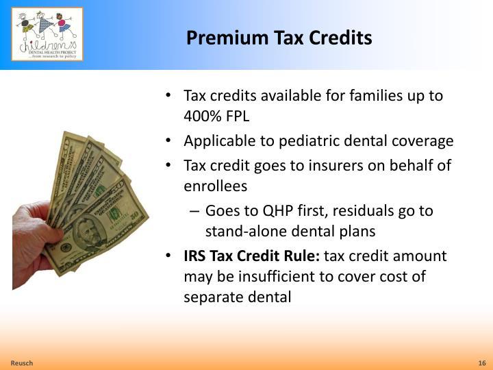 Premium Tax Credits