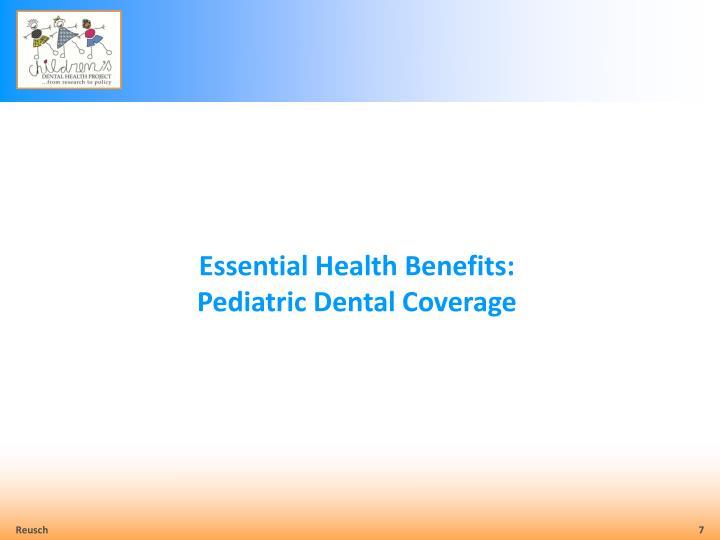 Essential Health Benefits:
