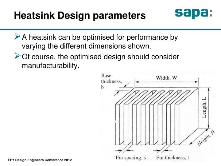 Heatsink Design parameters