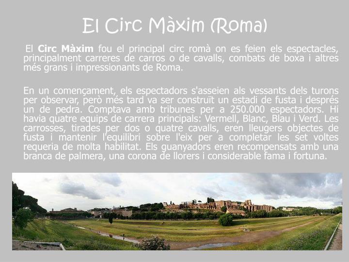 El Circ Màxim (Roma)