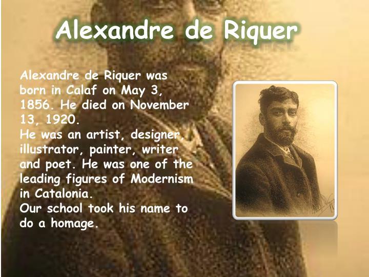 Alexandre de Riquer