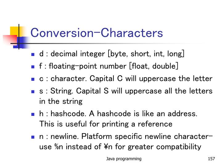 Conversion-Characters
