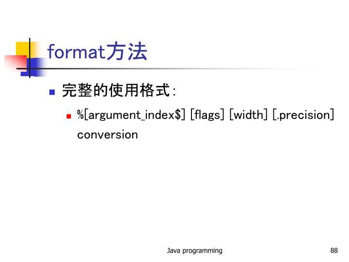 format