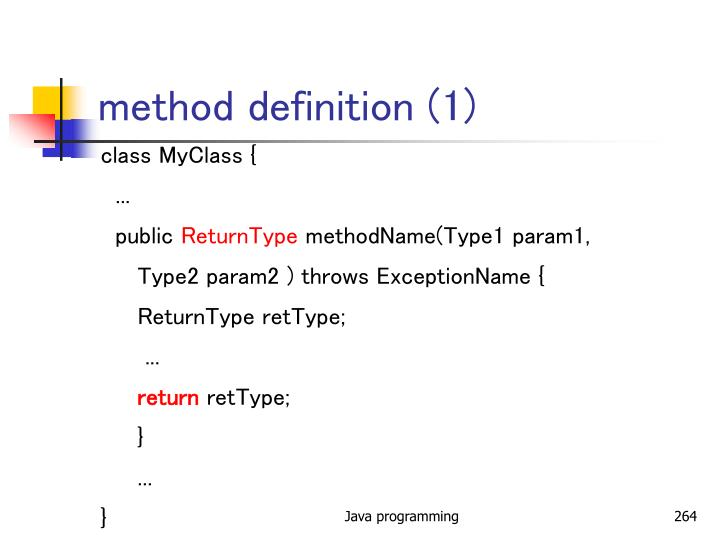 method definition (1)