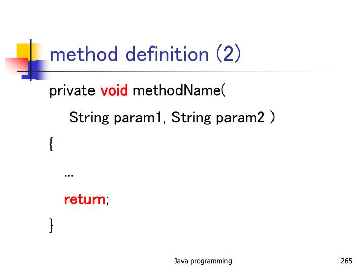 method definition (2)