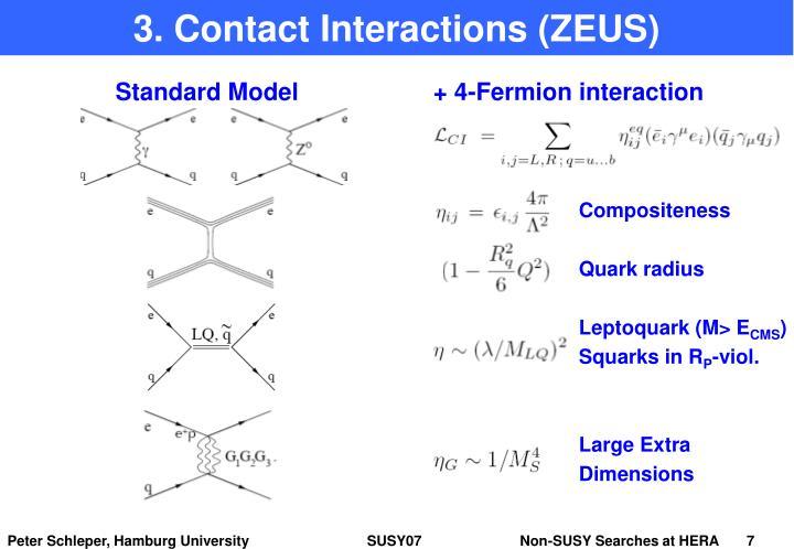 3. Contact Interactions (ZEUS)