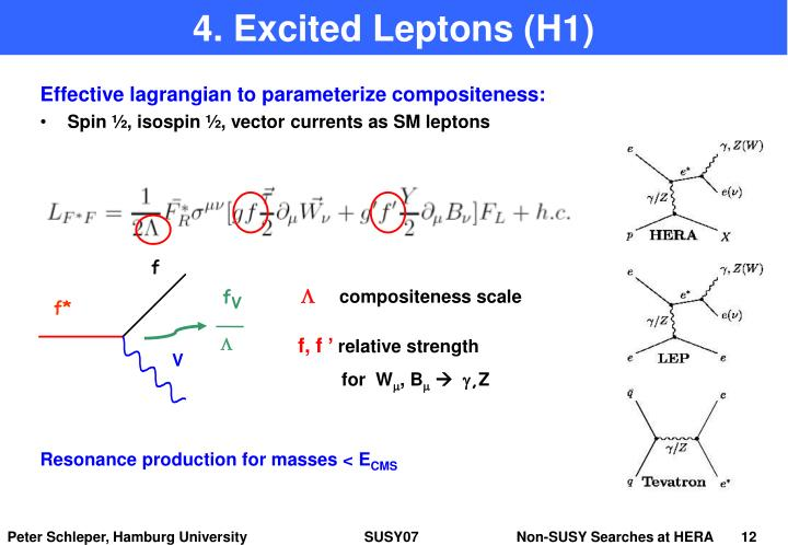 4. Excited Leptons (H1)