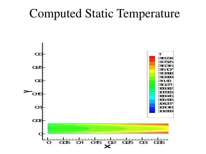 Computed Static Temperature