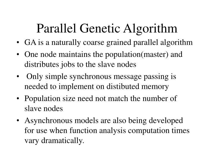 Parallel Genetic Algorithm