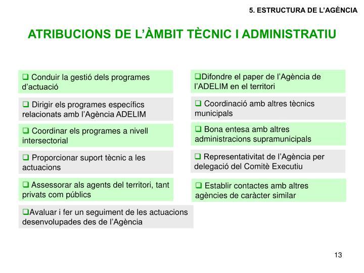 5. ESTRUCTURA DE L'AGÈNCIA