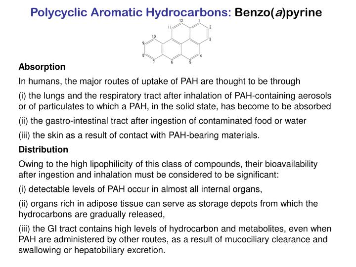Polycyclic Aromatic Hydrocarbons: